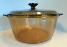 Corning Ware Amber Visions Cookware 4.5 L 5qt Dutch Oven with Lid ( Pot France)