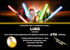 Personalised Lego Star Wars Inspired Party Invitations (Various Designs)