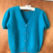 JH Collectibles Vintage Angora/Lambswool Blend (Women's) S M Teal  Sweater
