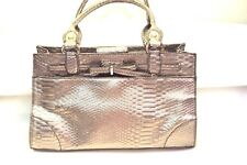 Handbag Purse Liz Claiborne Silver Gold Hand Held 6 Compartments