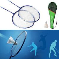 New 1 Pair Badminton Racket High-strength Aluminium Alloy Racquet Bag Badminton