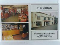 Vintage Advert Postcard The Crown Public House Pub High St Manningtree Essex