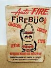 Vintage Auto Fire Firebug Camping Stove Heater Charcoal Lighter