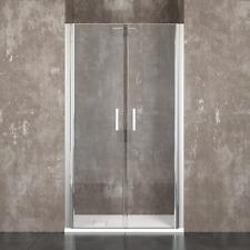 Box doccia cabina bagno saloon alluminio e cristallo temperato 6mm trasparente
