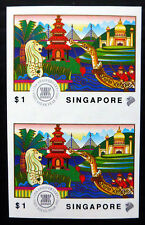 SINGAPORE 1992 $1 Imperf U/M Vertical Pair NH596