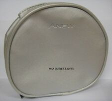 Avon Anew Silver Satin Effect Vanity Cosmetics Toiletries Make Up Bag Great SALE