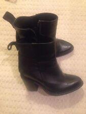 Kurt Geiger Zip 100% Leather Block Heel Boots for Women