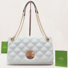 Kate Spade Astor Court Cynthia Grace Blue Quilted Leather Shoulder Bag WKRU2650