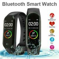 M4 Blood Pressure Monitor Smart Watch Band Heart Rate Tracker Fitness Wristband