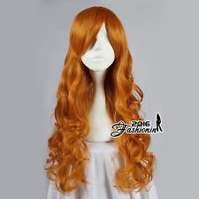 Scooby Doo Daphne Blake Wavy Long Halloween Anime Cosplay Wigs+ Free wig cap