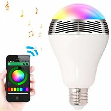 5W E27 Bluetooth APP Control Music Audio Speaker LED RGB Color Bulb Lamp Lights