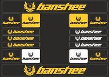BANSHEE Mountain Bicycle Frame Decal Sticker Graphic Set Adhesive Vinyl Yellow