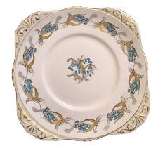 "More details for rare vintage 9"" royal grafton bluebells gilded sandwich plate"