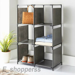 Strong Durable Frame Spaceways 6 Cube Storage Shelf Store Anything From Clothes.
