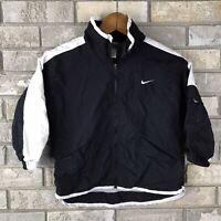 Vintage Grey Tag Nike Youth Boys Size Small 4/5 Black White Windbreaker Jacket