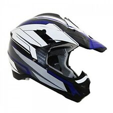 Vega Viper Off-Road Helmet with Stage Graphics (Blue, Small) with Cover