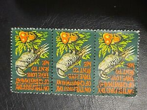 1971 US Sc# 1445 8c Christmas Partridge In A Pear Tree Strip of 3 Used - #1746