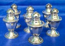 American Antique N.S.Co Sterling Silver Art Deco Salt & Pepper Set of Six