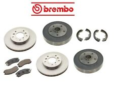 For Ford Probe 89-92 Front+Rear Brake Rotors w/ Pads Shoes Kit Brembo OEM