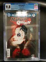 DC Universe Rebirth Harley Quinn #1 Sienkeiwicz Variant Blue Label CGC 9.8