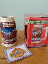 New listing Old Towne Holiday (Cs560) - 2003 Budweiser Holiday Stein - Anheuser-Busch