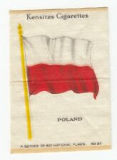 "1934 NATIONAL FLAGS Tobacco ""Silk"" POLAND"