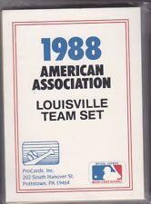 1988 PROCARDS MINOR LEAGUE BASEBALL LOUISVILLE TEAM SET NMMT/MINT *T054