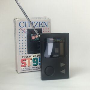 Vintage/Retro Citizen Pocket Size LCD Colour Television ST955 & Cover Boxed