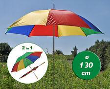 Sonnenschirm Regenschirm Strandschirm Schirm bunt mit Ständer und Griff Ø 130cm