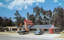 Ocala FL~Stephen's Waffle Shop~Roadside Diner US 301~Red Phone Booth~1950s Cars