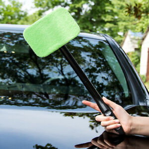 Windshield Windscreen Wonder Wiper Car Glass Window Cleaner Microfiber Pads *W
