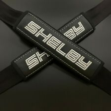 Ford Shelby Black seat belt covers White embroidery 2PCS