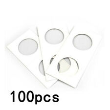 100Pcs Set 31mm Cardboard Coin Holder Flip Half Dollars Protective Accessories