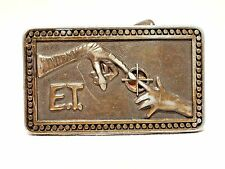 "Universal City Vintage 1982 ET Extra Terrestrial Boys Belt Buckle Metal 2.5"" EUC"