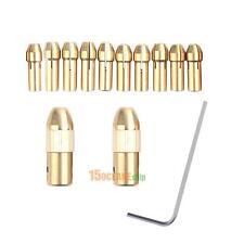 2+10pcs 0.5-3.22mm Micro Twist Drill Kit Chuck Brass Electric Drill Bit Collet