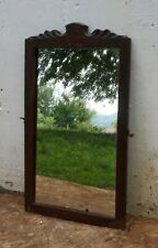"16""x28"" Antique Vintage Old Carved Oak Wood Wooden Wall Dresser Vanity Mirror"