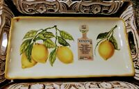 NWT EFFETTI D'ARTE Trim Large Lemon Serving Tray Platter HANDMADE in ITALY