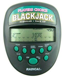 Radica Blackjack Game Players Choice 1997 Handheld Electronic Vintage Game