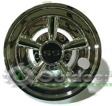 """Golf Cart SS Hubcaps Hub cap wheel cover For Models with 8"""" wheels Set of 4"""