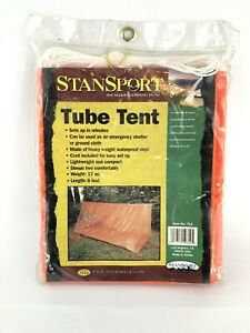 Orange Stansport 2 Person Emergency Shelter Tube Tent - 8ft  & 17oz - NEW - #712