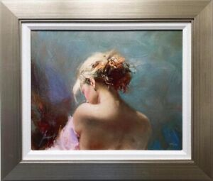 """Pino Daeni """"Desire"""" Hand Signed Limited Edition on Canvas FRAMED Art Woman"""