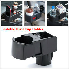 Car SUV Scalable Dual Cup Holder Drink Ashtray Mobile Phone Bracket Storage Clip