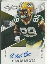 RICHARD RODGERS RC AUTO #/199 2014 ABSOLUTE PACKERS ROOKIE AUTOGRAPH