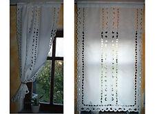 Seitenschal, Gardine, Vorhang, Querbehang, LANDHAUS weiß creme Polyester HOSSNER