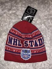 Reebok Face Off Collection NHL Stadium Series 2014 LA NY CHI Beanie Cap Red