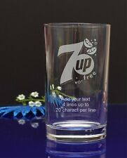 Personalised Engraved Soft drink Hi ball glass 7Up FREE Gift X-mas 318