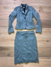 Vintage Versace Blue Suit Blazer and Skirt