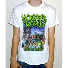 "Municipal Waste ""The Art Of Partying"" White T-shirt - NEW OFFICIAL fatal feast"