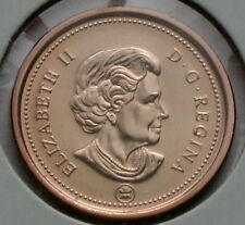 Canada 2009 1 CENT Coin UNC RED Lustre  'Raised Metal on G' Variety (from roll)