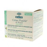 Nuxe Crème Fraiche Ricca crema idratante lenitivo 24h viso/contorno occhi 50ml